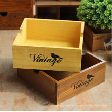 Caixa multifuncional de madeira da caixa da mesa floresce a caixa de exposição pequena do plantador