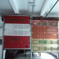 Polyurethanschaum durch Fenster Garagentor durchschauen