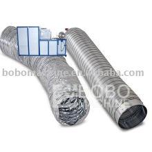 conducto flexible de aluminio que forma la máquina