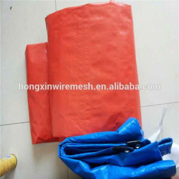Waterproof PE tarpaulin with grommets