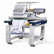 Machine simple de broderie d'ordinateur principal avec 12/15 couleurs pour le chapeau, le T-shirt, plat, sequin, perles, prix de broderie de cordon