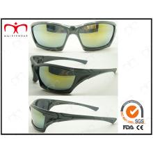 Óculos de sol de plástico dos esportes da forma e dos homens consideráveis (2868RV)
