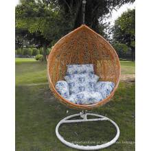 Metal Frame Rattan cadeira balanço único