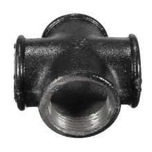 4-WAY MALLEABLE IRON THREADED BLACK CROSS