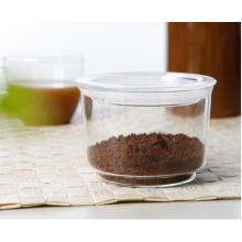 Fabrication d'entreposage de pot en verre avec couvercle pour nourriture