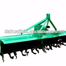 Gear driven tractor pto rotary tiller