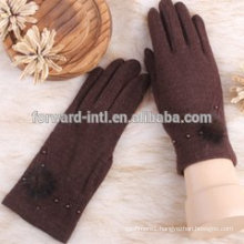 Hot sale ladies cashmere gloves with competitive price