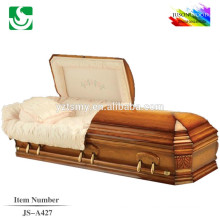 American custom exquisite carving wooden colored casket