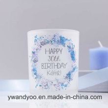Decorative Scented Soy Candle in Glass for Valentine′s Day