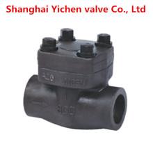 Válvula de retención de resorte de acero forjado elevación da alta temperatura hilo
