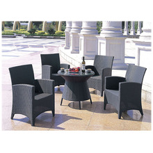 Elegant Cafe PE Wicker Waterproof dining set