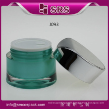 SRS plastic mini bottle acrylic jar , colorful jar and plastic cover for pot for cream jar