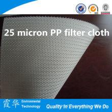 Paño de filtro PP de 25 micras para bolsa de filtro líquido