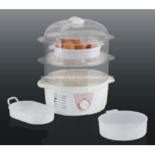 Plastic Microwave 2 Tier Eco-friendly Steamer