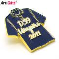 Customized Soft Enamel T-shirt shape metal cheap lapel pin badge