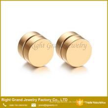 Chirurgenstahl-Punkart-rundes Gold überzog magnetische gefälschte Stecker auf Bolzen-Ohrring