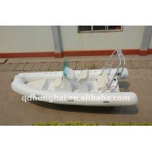 bateau rigide de fibre de verre ce RIB520 avec moteur 25hp