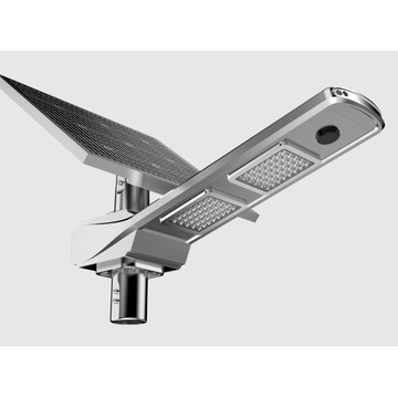 160lm / w IP65 impermeable inteligente solar luz de calle led