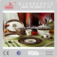 Japonés Rusia elegante multa de hueso de porcelana porcelana de hueso vajilla china conjunto