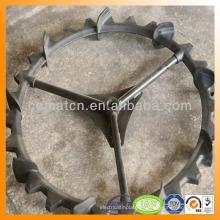 rueda trasplantadora con composición de goma fuerte acero base