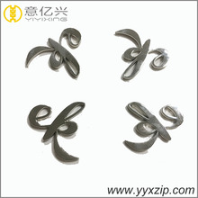 hollow silver plated letter logo for bag accessories