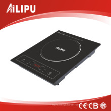 A Grade Black Crystal Plate Induction Cooker with Touch Control