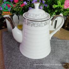 Bouilloires en céramique en céramique à base de porcelaine durable