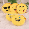 Nouveau design populaire en peluche emoji portefeuille Souviners cadeau mignon émoticône en peluche sac d'argent de poche en gros