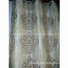 Chenille Jacquard Window Curtain, Sized 140cmx280cm with 8 Grommet, Standard Export Packing