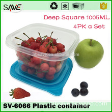 Biodegradable high temperature microwaveable plastic fast food frozen fruit packaging trays and container with cover