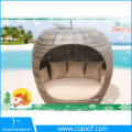 Factory In Foshan City Rattan Apple Lounger Bed, Poly Rattan Sunbed