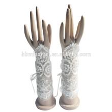 2017 nuevo diseño de la moda bastante elegantes guantes de accesorios del vestido de boda para los accesorios de la boda