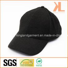 Polyester et laine de qualité chaude plaine Black Baseball Cap