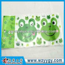 Beliebte gedruckten Frosch Aufkleber für Deko, neue benutzerdefinierte PVC-Aufkleber