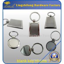 Llavero en blanco de metal de alta calidad como sorteo barato