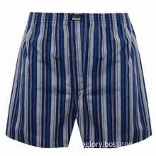 Men's Boxer Shorts, 100% Cotton, Comfortable to Wear