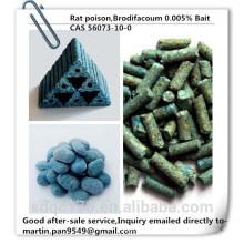 Vente chaude, poison de rat efficace, Brodifacoum 98% TC, 0,005% Bait, CAS 56073-10-0