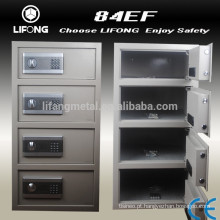 Digital and electronic security safe box with 4 doors seperately