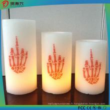 Lumière de bougie colorée de LED de vraie cire pour la décoration