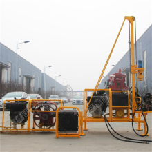 Portable hydraulic hard rock drilling machine