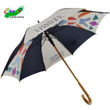 Рекламный деревянный каркас для мини-гольфа Синий белый красочный зонт