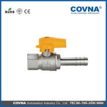Macho / conector de manguera con mango de aluminio válvula de gas gpl