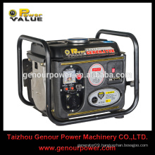 750watt 0.75kw 2-stroke portable gasoline generator with 1 cylinder gasoline engine