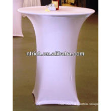 Lycra spandex high bar cocktail table cloth for wedding