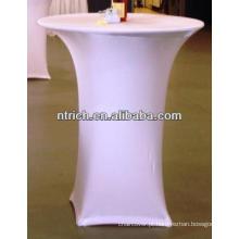 Elastano lycra alto bar toalha de mesa de coquetel para casamento