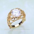 Mode-Design-Gold überzogene Land-Art-Zink-Legierungs-Art- und Weisering JWZ0028