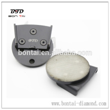 Quick Changed almohadillas de gancho y lazo de bloque de metal para conectar EZ herramienta de rectificado