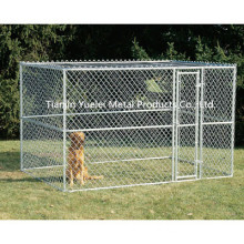 Large Chain Link 6′x10′x6′ Dog Kennel Pet Pen Fence Run Outdoor House Enclosure