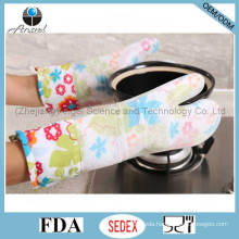 Hot Sale Thick and Long Silicone Glove for Microwave Oven Grill Sg18