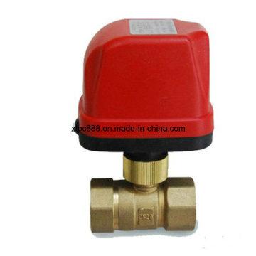 Válvula de bola motorizada de control eléctrico de latón de 2 vías
